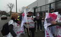 Vor der Demonstration in Potsdam