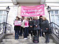 Mahnwache in Bad Freienwalde am 09.03.2012
