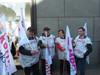 Mitglieder der komba gewerkschaft brandenburg vor dem Bundesfinanzministerium am 22.03.2012