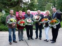 Neue Landesleitung v.l.n.r: René Schley, Adelheid Benzarti, Detlef Daubitz, Gerhard Stuchlick, Silke Graf, Jan-Pieter Rau