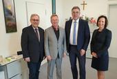 v.l.n.r.: Klaus-Dieter Schulze, Andreas Westerfellhaus, Andreas Hemsing, Stefanie Richter (Foto: © komba gewerkschaft)