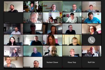 Online-Sitzung Bundesvorstand der komba gewerkschaft (25. Mai 2021) © komba gewerkschaft